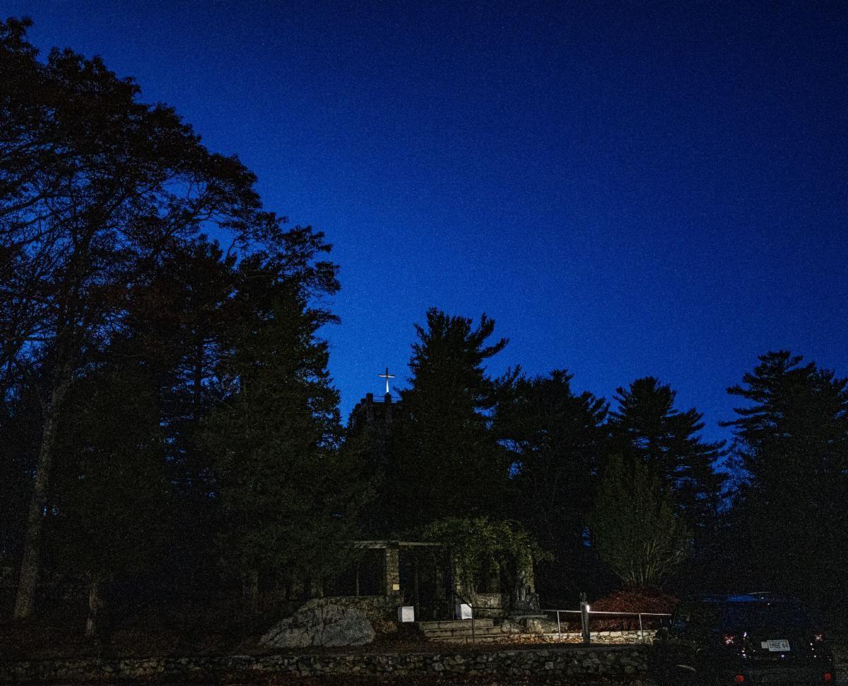 Night sky over the arbor
